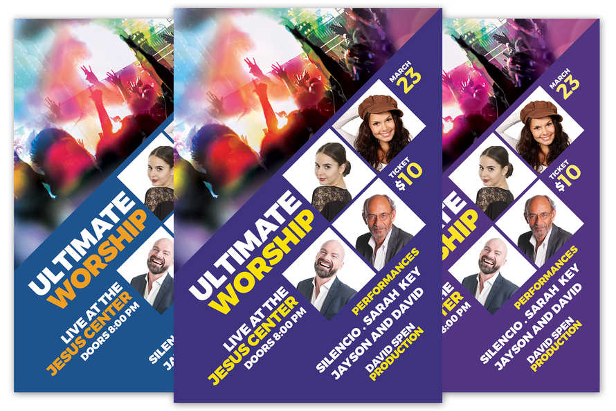 Ultimate Worship Church Flyer