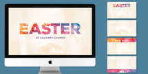 Easter New Life Watercolor Slide Set