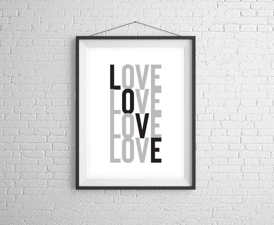 Love Stacked Digital Print