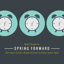 Spring Forward Social Graphic