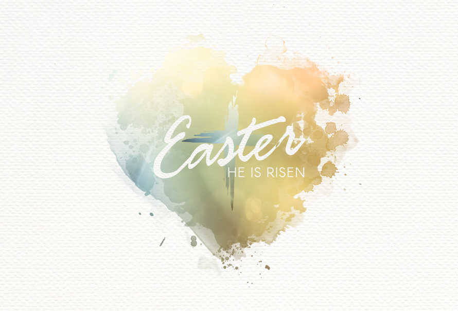 Easter Heart Postcard