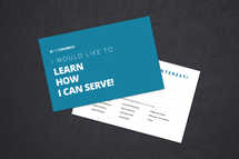 I Would Like to Serve Connection Card
