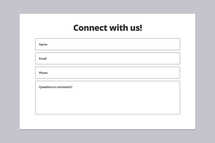 Connect With Us Connection Card