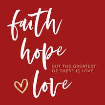 Faith Hope Love Social Graphic Set
