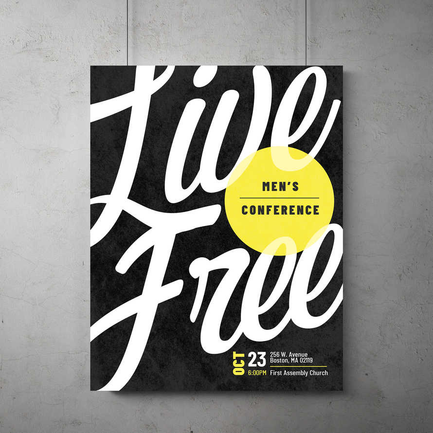 Live Free Flyer Template