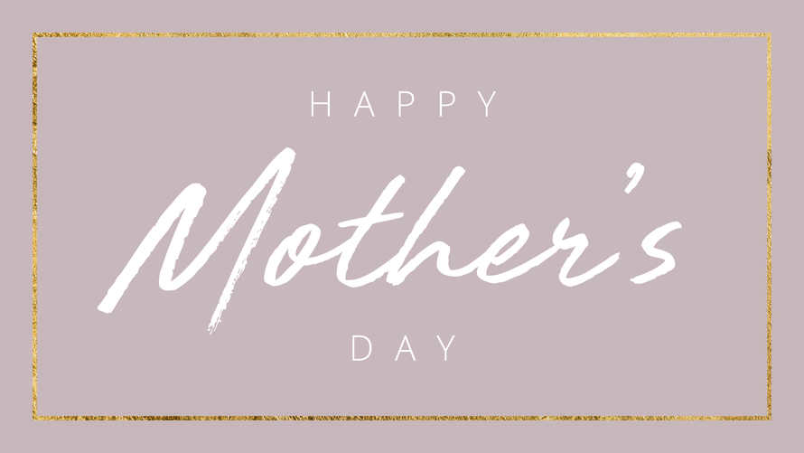 Happy Mother's Day Gold Calligraphy Slide
