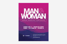 Man & Woman Marriage Conference Flyer Template