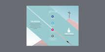 Stripe Church Trifold Letter Brochure