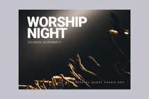 Worship Night Card