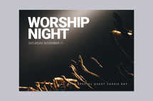 Worship Night Card