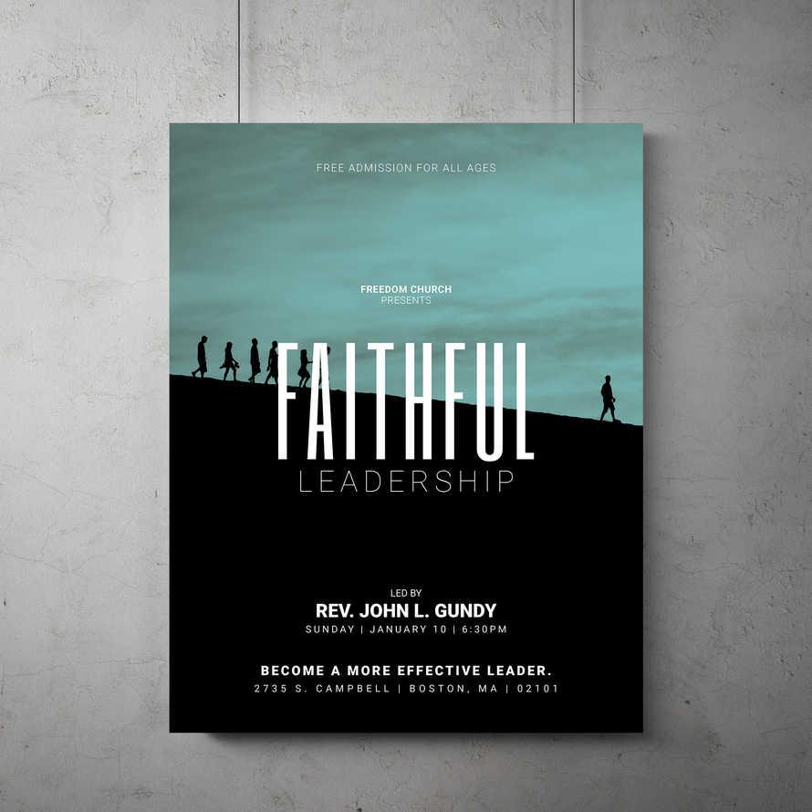 Faithful Leadership Flyer Template