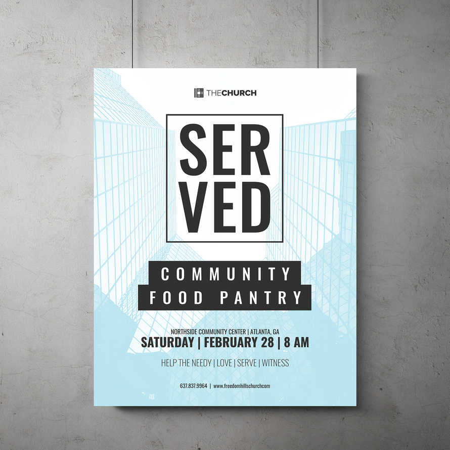 Served Flyer Template
