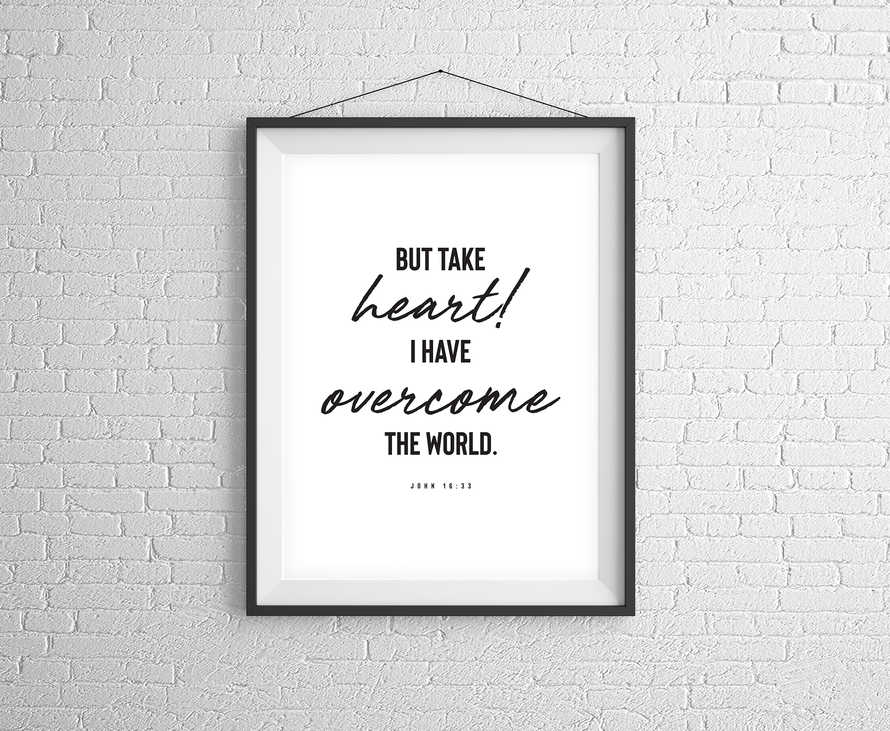 But Take Heart! Digital Print