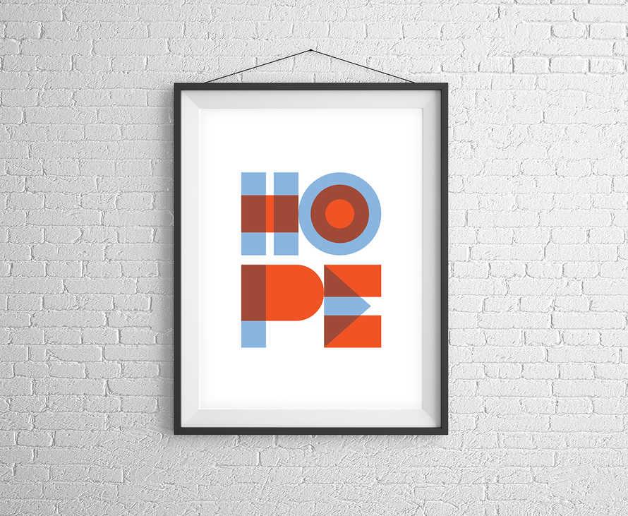 Hope Geometric Digital Print