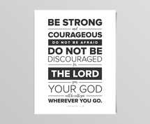 Be Strong Bold Digital Print
