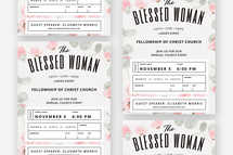 The Blessed Woman Flyer Template