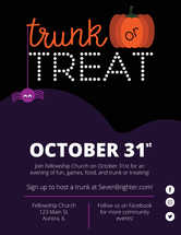Trunk or Treat Invitation Poster