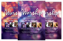 Worship Ministers Conference Church Flyer