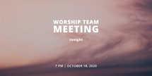 Worship meeting tonight