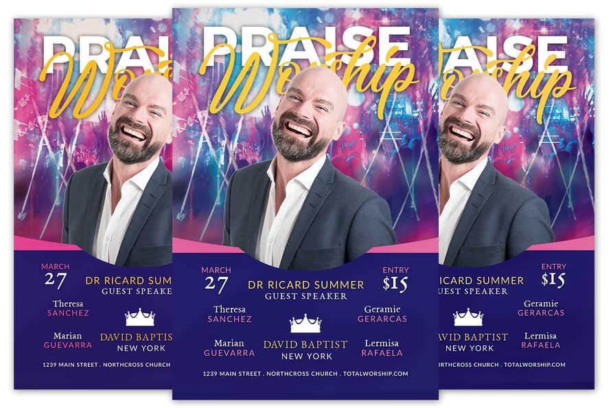 Praise Worship Church Event Flyer