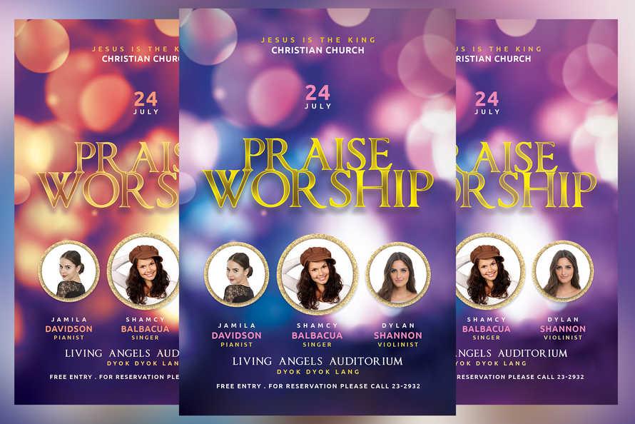 Praise Worship Church Conference Flyer
