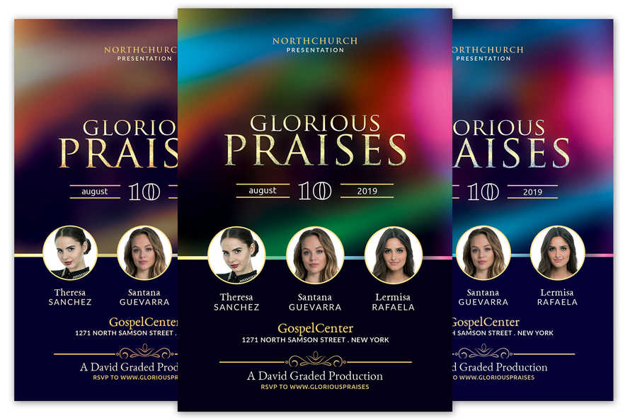Glorious Praises Church Flyer