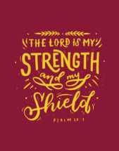 Hand lettered Digital Print - Psalm 28v7 Bible verse