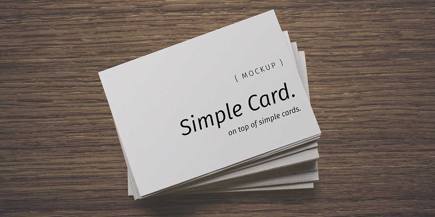 Simple Connection Card Mockup