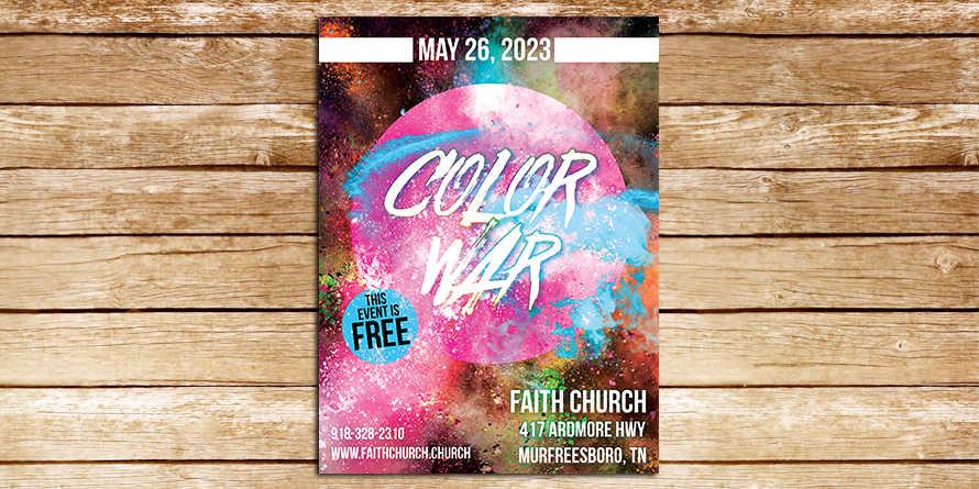 Color War Bright Flyer