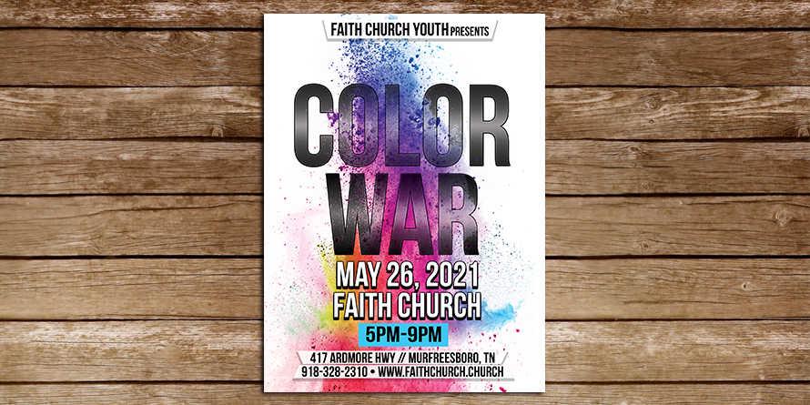 Color War Splatter Flyer