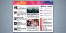 Easter New Life Watercolor Trifold Brochure