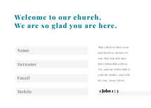 Hello Friend Welcome Card
