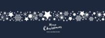 Merry Christmas vector seamless border