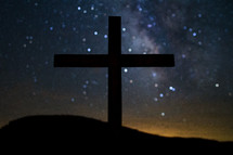 cross against the night sky
