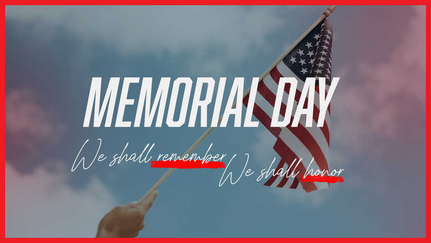 Memorial Day slide graphic - pack of 3