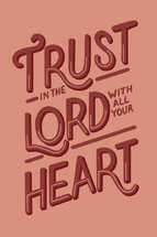 Proverbs 3:5 – Lettered Print