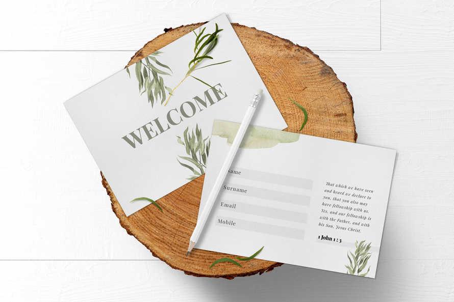 Botanical Welcome Card