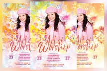 Art of Worship Church Conference Flyer