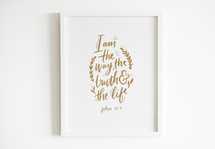 Hand lettered Digital Print - John 14: Bible verse