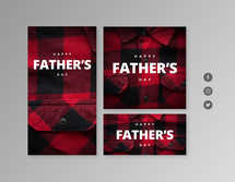 Happy Father's Day Flannel Social Graphics