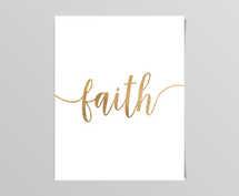 Faith Gold Digital Print