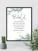 Isaiah 43 19, Behold I will do a new thing, Easter Wall Art, Bible Verse Prints,
