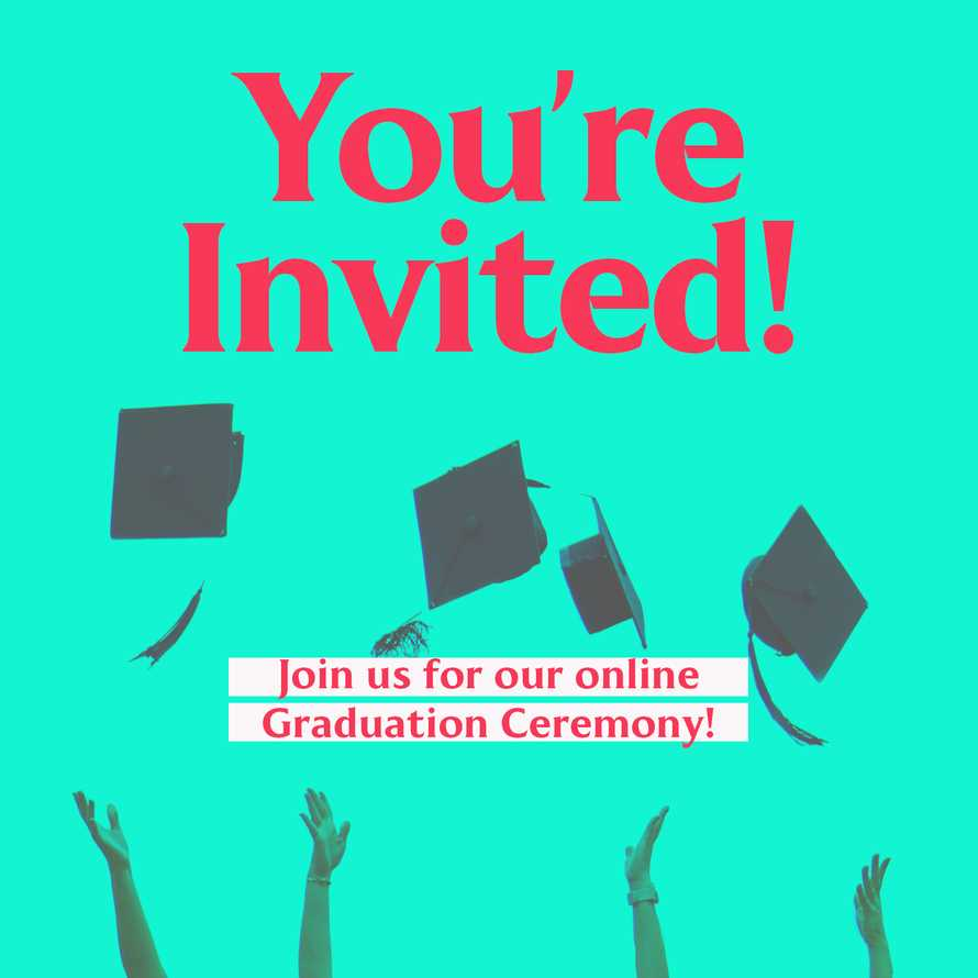 You're Invited Graduation social graphic