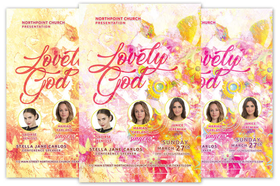 Lovely God Church Flyer