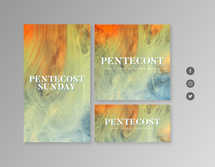 Pentecost Sunday Abstract Social Graphics