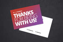 Thanks for Being Here Connection Card