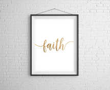 Faith Gold Digital Print