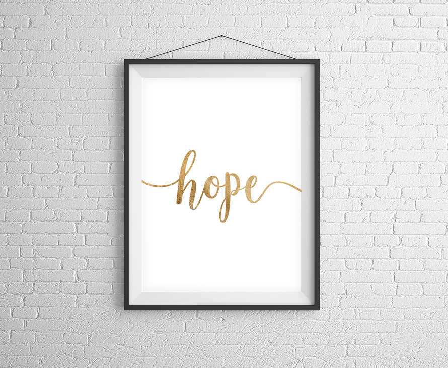 Hope Gold Digital Print