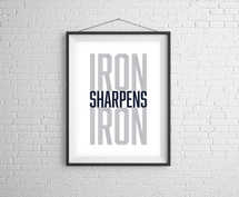 Iron Sharpens Iron Digital Print