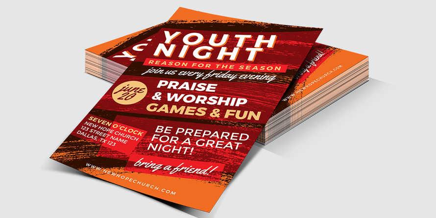 Youth Night Church Flyer